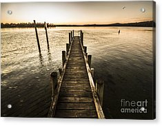 Vintage Wooden Pier Acrylic Print by Jorgo Photography - Wall Art Gallery