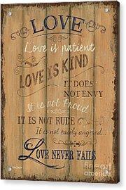 Vintage Wtlb Love Acrylic Print
