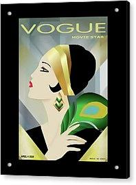 Vinttage Vogue Cover April 1929 Acrylic Print