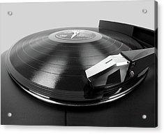 Vinyl Lp And Turntable Acrylic Print by Jim Hughes