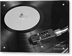 Vinyl Record Playing On A Turntable Overview Acrylic Print