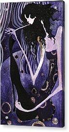 Viola And Chibi Acrylic Print by Maya Manolova