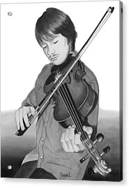 Acrylic Print featuring the painting Viola Master by Ferrel Cordle