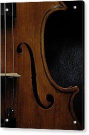 Viola No1 Half B Acrylic Print by Joseph Duba