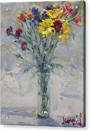 Viola's Flowers Acrylic Print by Ylli Haruni