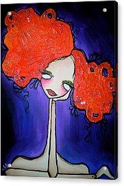 Violet Acrylic Print by Amanda Valdes