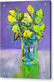 Violet And Lime Acrylic Print