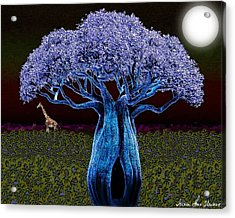 Violet Blue Baobab Acrylic Print