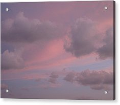 Violet Cloud Formation 1 Acrylic Print