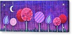 Violet Grove Acrylic Print by Graciela Bello