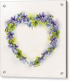 Violet Heart Acrylic Print by Becky West