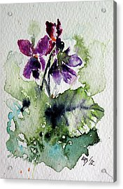 Acrylic Print featuring the painting Violet Iv by Kovacs Anna Brigitta