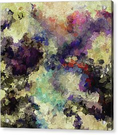 Acrylic Print featuring the painting Violet Landscape Painting by Ayse Deniz