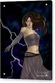 Acrylic Print featuring the digital art Violet Magic by Amyla Silverflame