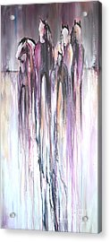 Acrylic Print featuring the painting Violet Mirage 2 by Cher Devereaux
