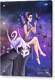 Violet Night Fantasy Acrylic Print