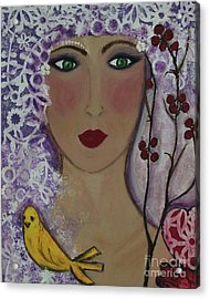 Violet Queen Acrylic Print
