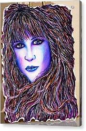 Violet Reflection Acrylic Print by Joseph Lawrence Vasile