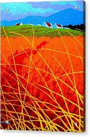 Violet Sky - Wicklow - Ireland Acrylic Print by John  Nolan