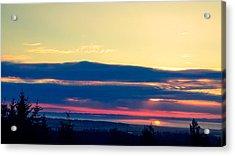 Violet Sunset Acrylic Print