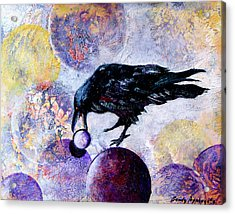 Violet-velvet Lining Acrylic Print by Sandy Applegate