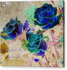 Violets Are Red- Roses Are Blue Acrylic Print