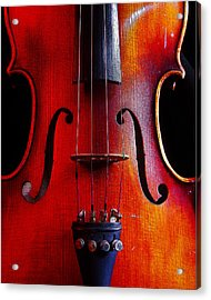 Acrylic Print featuring the photograph Violin # 2 by Jim Mathis