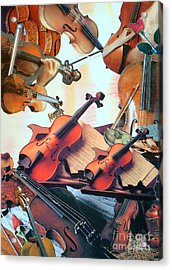 Violin Concierto Acrylic Print by Judith Espinoza