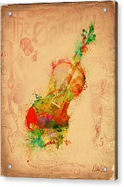 Violin Dreams Acrylic Print by Nikki Marie Smith