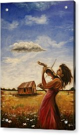 Acrylic Print featuring the painting Violin by Emery Franklin