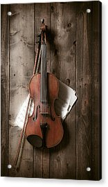 Violin Acrylic Print by Garry Gay