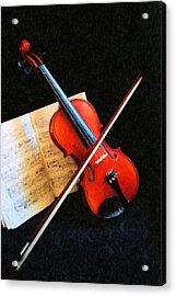 Violin Impression Acrylic Print by Kristin Elmquist