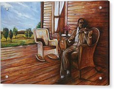 Acrylic Print featuring the painting Violin Man by Emery Franklin