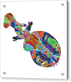 Violin Music Instrument Graphic Abstract Design Colorful Art Acrylic Print by Navin Joshi