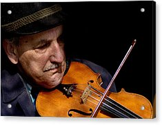 Violin Player Acrylic Print by Todd Fox