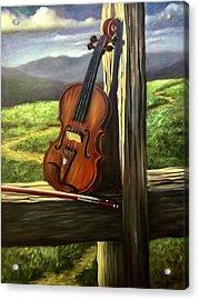 Violin Acrylic Print by Randy Burns