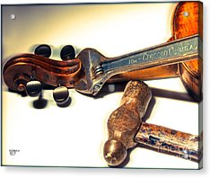 Violin Repair  Acrylic Print by Steven Digman
