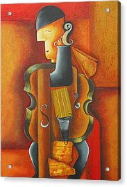 Violin Time Acrylic Print by Marta Giraldo