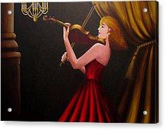 Violinist  Acrylic Print by Anh T Chau