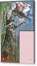 Violinist Woman Acrylic Print by Giorgi Kobiashvili