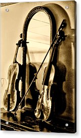 Violins Acrylic Print by Bill Cannon