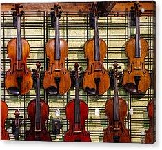 Violins In A Shop Acrylic Print