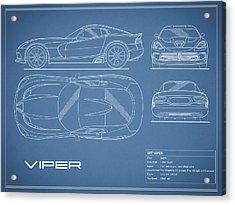 Viper Blueprint Acrylic Print by Mark Rogan