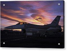 Viper Sunset Acrylic Print by John Clark