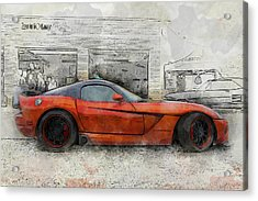 Acrylic Print featuring the photograph Viper Zero To 60 by Joel Witmeyer
