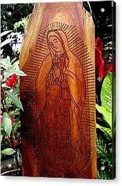 Virgen De Guadalupe Acrylic Print by Calixto Gonzalez