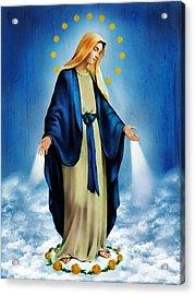 Virgen Milagrosa Acrylic Print