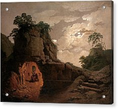 Virgil's Tomb By Moonlight With Silius Italicus Declaiming Acrylic Print by Joseph Wright of Derby
