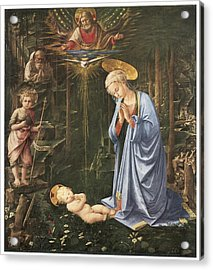 Virgin Adoring The Child Acrylic Print by Fra Filippo Lippi