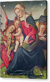 Virgin And Child And Angel Musicians  Acrylic Print by Piero di Cosimo